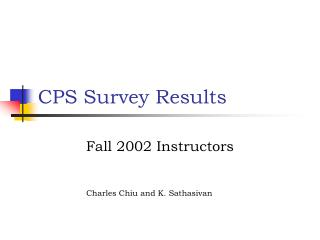 CPS Survey Results