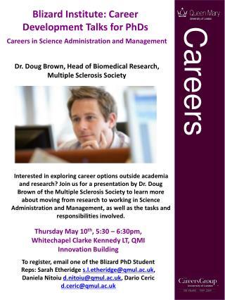 Blizard Institute: Career Development Talks for PhDs