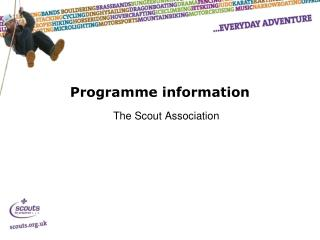 Programme information