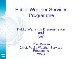 Public Weather Services Programme