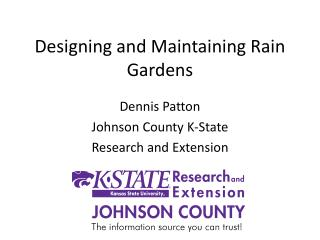 Designing and Maintaining Rain Gardens