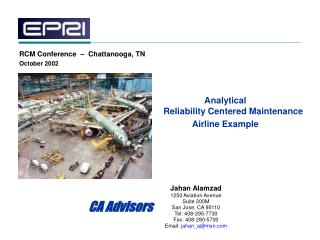 Analytical Reliability Centered Maintenance Airline Example
