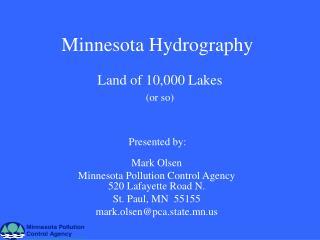 Minnesota Hydrography