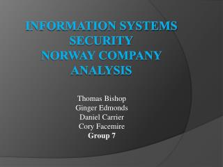 Information Systems  Security Norway Company  Analysis