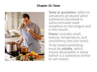 Chapter 15: Taste