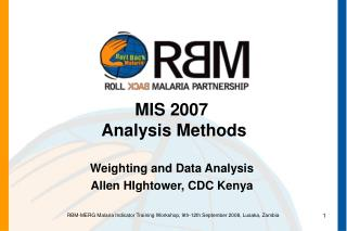 MIS 2007 Analysis Methods