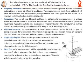 Particle adhesion to substrates and their efficient collection