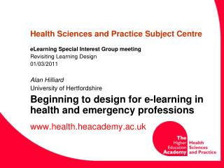 Health Sciences and Practice Subject Centre