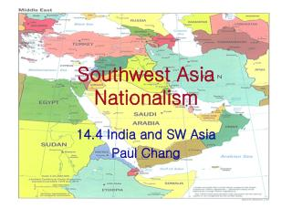 Southwest Asia Nationalism