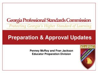 Preparation & Approval Updates
