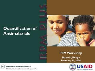 Quantification of Antimalarials