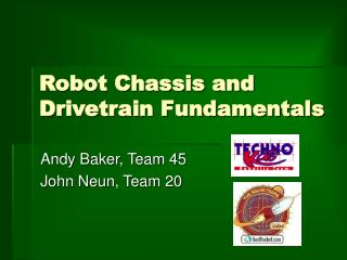 Robot Chassis and Drivetrain Fundamentals