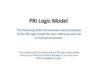 PRI Logic Model
