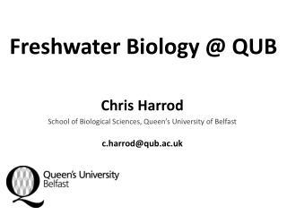 Freshwater Biology @ QUB