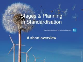 Stages & Planning in  Standardisation