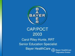 CAP/POCT 2003