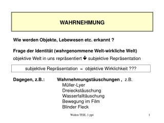 Wahrn TEIL 1