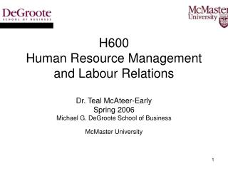 H600 Intro to Human Resource Management Week 1 _________________________________