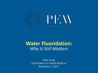 Water Fluoridation: Why It Still Matters