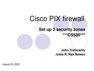 Cisco PIX firewall