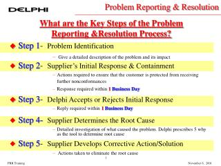 Step 1 -   Problem Identification Give a detailed description of the problem and its impact