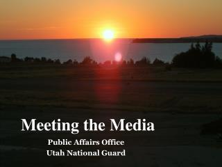 Public Affairs Office Utah National Guard