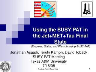 Using the SUSY PAT in the Jet+MET+Tau Final State (Progress, Status, and Plans for using SUSY PAT)
