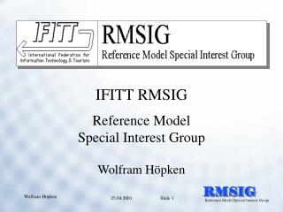 Reference Model Special Interest Group