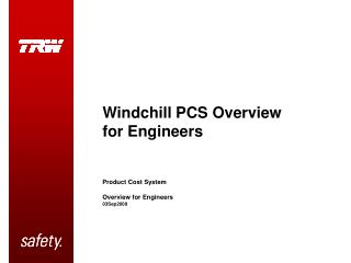 Windchill PCS Overview for Engineers