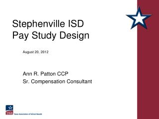 Stephenville ISD Pay Study Design