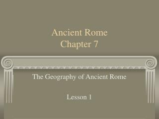 Ancient Rome  Chapter 7
