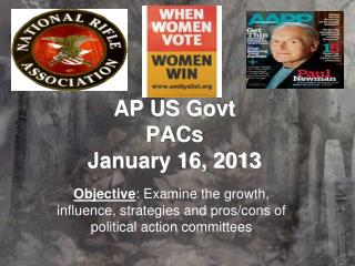 AP US  Govt PACs January 16, 2013