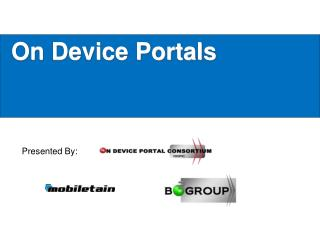 On Device Portals