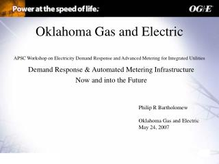 Demand Response & Automated Metering Infrastructure Now and into the Future