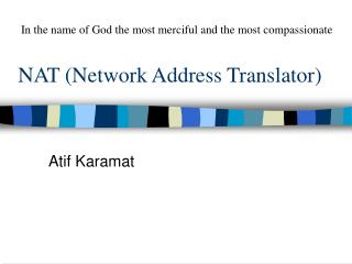 NAT (Network Address Translator)