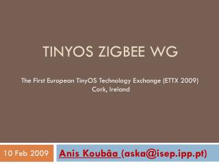 Tinyos Zigbee  WG