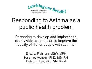 Responding to Asthma as a public health problem