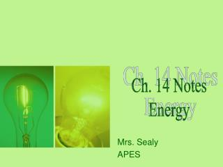 Mrs. Sealy APES