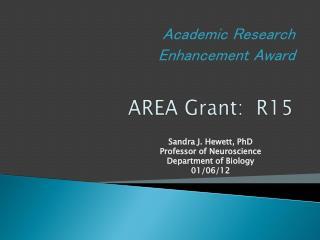 AREA Grant:  R15