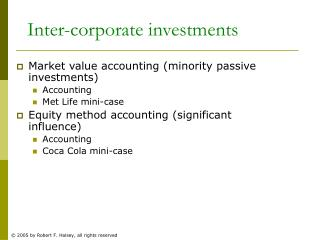 Inter-corporate investments