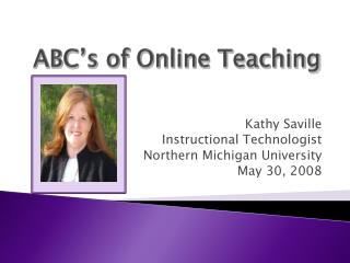 ABC�s of Online Teaching
