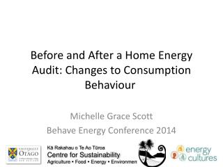 Before and  After  a  Home  E nergy  A udit : Changes to  Consumption  B ehaviour