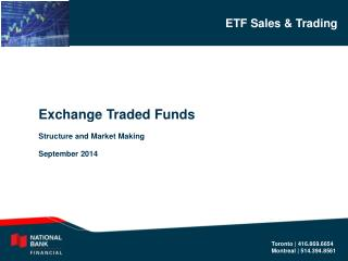 Exchange Traded Funds Structure and Market Making September 2014