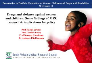 Presentation to Portfolio Committee on Women, Children and People with Disabilities 31 October 12
