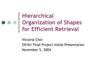 Hierarchical Organization of Shapes for Efficient Retrieval