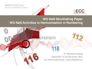 WG NaN Stocktaking Paper WG NaN Activities in Harmonisation in Numbering