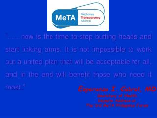 . . . now is the time to stop butting heads and start linking arms. It is not impossible to work out a united plan that