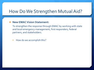 How Do We Strengthen Mutual Aid?