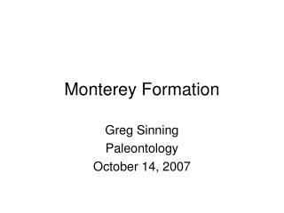 Monterey Formation