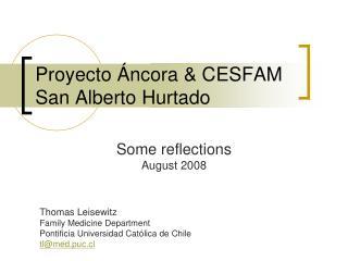 Proyecto Áncora & CESFAM San Alberto Hurtado